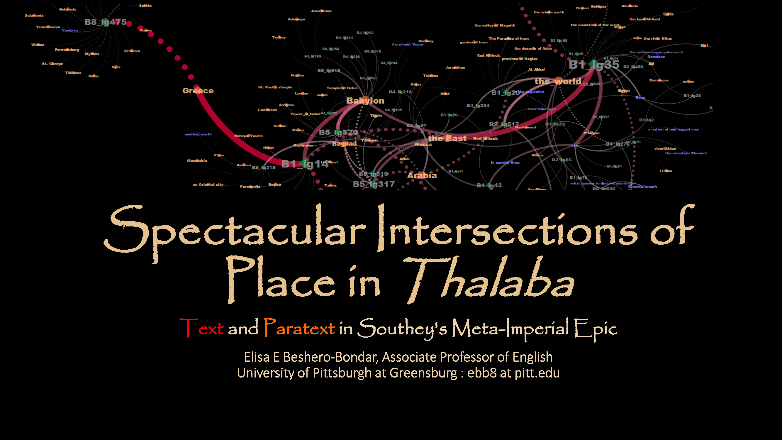 Spectacular Intersections of Place in Southey's Thalaba the